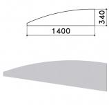 Экран-перегородка 'Монолит', 1400х16х340 мм, цвет серый (КОМПЛЕКТ)