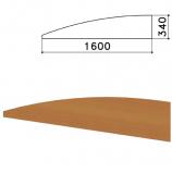Экран-перегородка 'Монолит', 1600х16х340 мм, цвет орех гварнери (КОМПЛЕКТ)