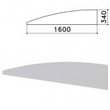 Экран - перегородка 'Монолит', 1600х16х340 мм, цвет серый (КОМПЛЕКТ)