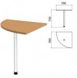 Стол приставной угловой 'Этюд', 700х700х750 мм, цвет бук бавария (КОМПЛЕКТ)