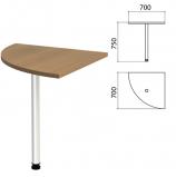 Стол приставной угловой 'Этюд', 700х700х750 мм, цвет орех онтарио (КОМПЛЕКТ)