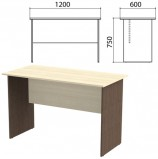 Стол письменный 'Канц', 1200х600х750 мм, цвет дуб молочный/венге (КОМПЛЕКТ)