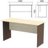 Стол письменный 'Канц', 1400х600х750 мм, цвет дуб молочный/венге (КОМПЛЕКТ)