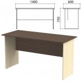 Стол письменный 'Канц', 1400х600х750 мм, цвет венге/дуб молочный (КОМПЛЕКТ)