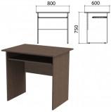 Стол компьютерный 'Канц', 800х600х750 мм, цвет венге (КОМПЛЕКТ)