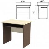 Стол компьютерный 'Канц', 800х600х750 мм, цвет дуб молочный/венге (КОМПЛЕКТ)