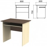 Стол компьютерный 'Канц', 800х600х750 мм, цвет венге/дуб молочный (КОМПЛЕКТ)