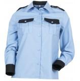 Рубашка охранника с длинным рукавом женская, голубой