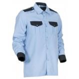Рубашка охранника с длинным рукавом мужская, голубой