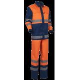 Костюм Дорожник комбинированный (п/к), оранжевый/т.синий
