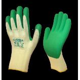 Перчатки трикотажные ОЛИВА с покрытием из нат.рельефного латекса (Россия)