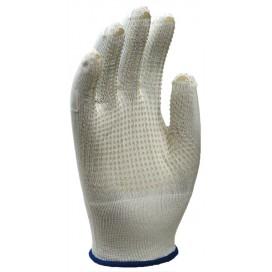 Перчатки Манипула Микрон ПВХ (TNG-27, белый нейлон + ПВХ, 10/250)