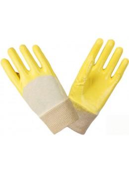 Перчатки нитриловые частичный облив Лайт (манжет резинка)