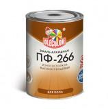Эмаль ПФ-266 для пола красно-коричневый  OLECOLOR (2,7 кг)