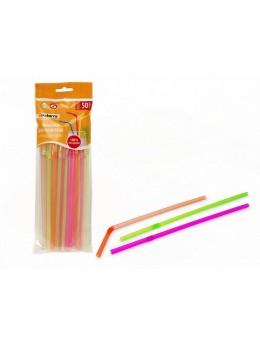 """Трубочки для напитков """"ПРАЗДНИЧНЫЕ"""", цветные со сгибом, d5мм*210мм, PATERRA (401-430)"""