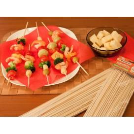 Шампуры для шашлыка, бамбук, 100 штук, d3мм* 200 мм, PATERRA (401-697)
