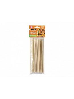 Шампуры для шашлыка, бамбук, 100 штук, d3мм* 300 мм, PATERRA (401-696)