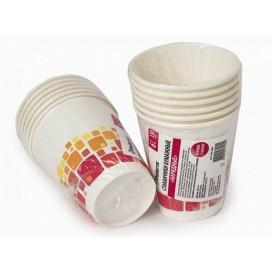 Бумажные стаканы НАРЯДНЫЕ, 330 мл, 6 шт. в упаковке, 2 вида в ассортименте, PATERRA(401-469)