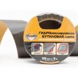 Гидроизолирующая бутиловая лента на алюминиевой основе, 50 мм*3 м AVIORA (302-114)