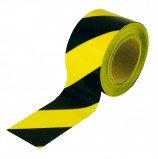 Лента оградительная ЛО-200 (желто-черная) 200п.м.*50мм-35мкм