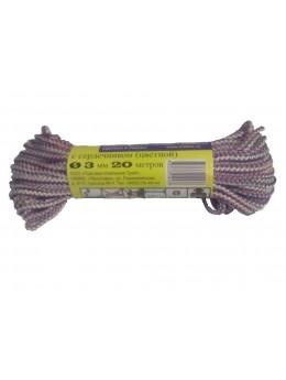 Шнур 3 мм. с сердечником 20 м. (цветной)