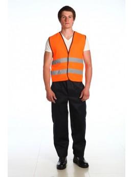 Жилет сигнальный «СПРУТ» с СВП (оранжевый)